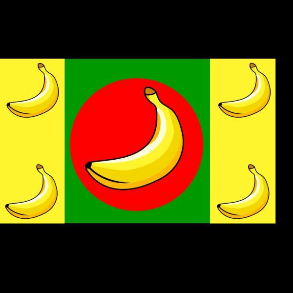 Banana Republic Flag PNG Clip art