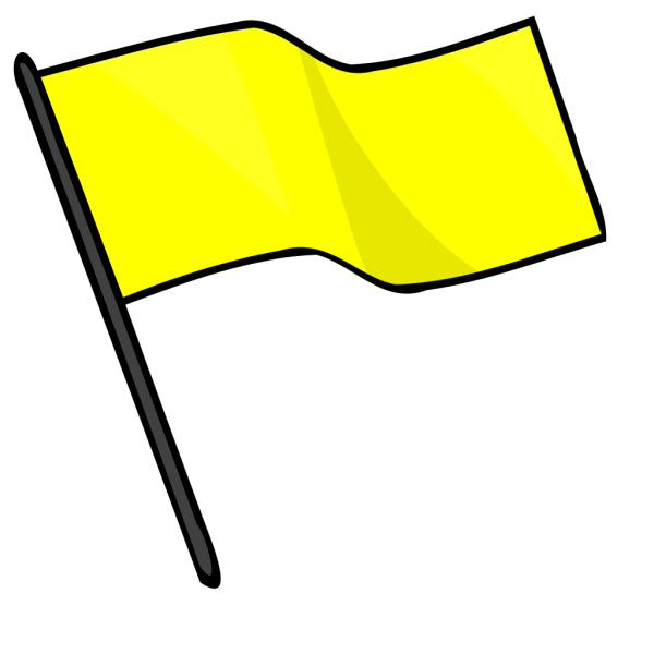 Yellow Flag PNG Clip art