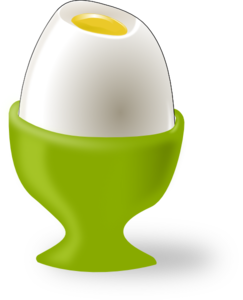 Easter Egg White With Fracture PNG images