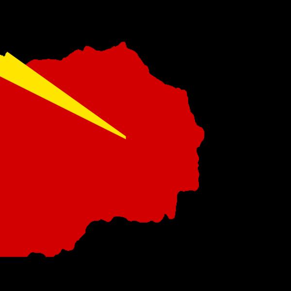 Flag Map Of Fyr Macedonia PNG Clip art