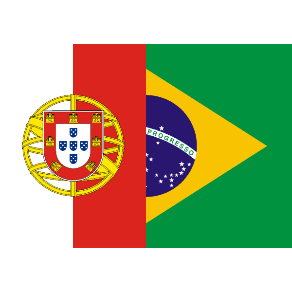 Flags Of Brazil And Portugal PNG Clip art