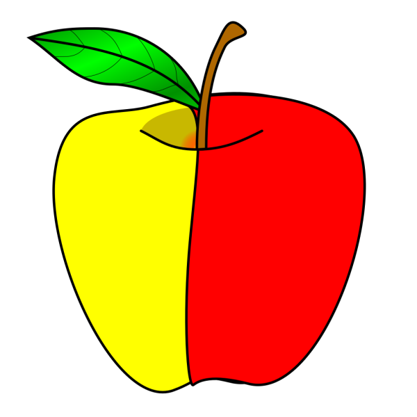 Worm And Black Apple PNG Clip art