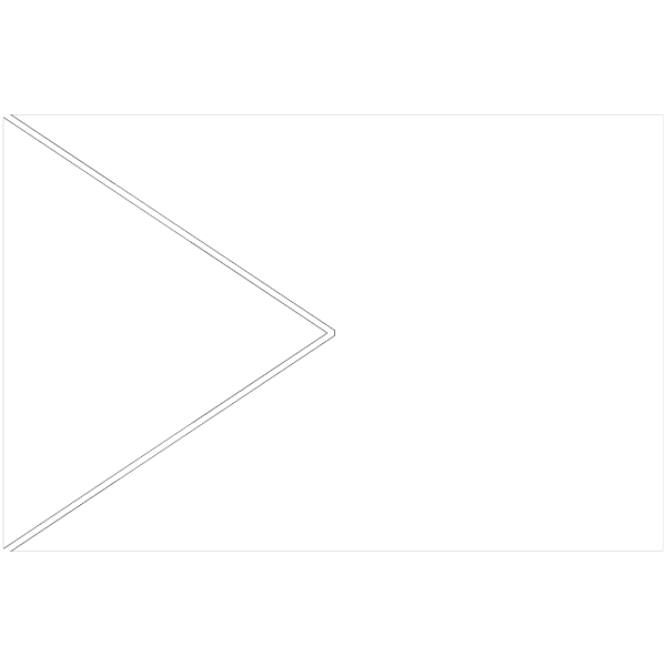 Triangle Flag Outline PNG Clip art