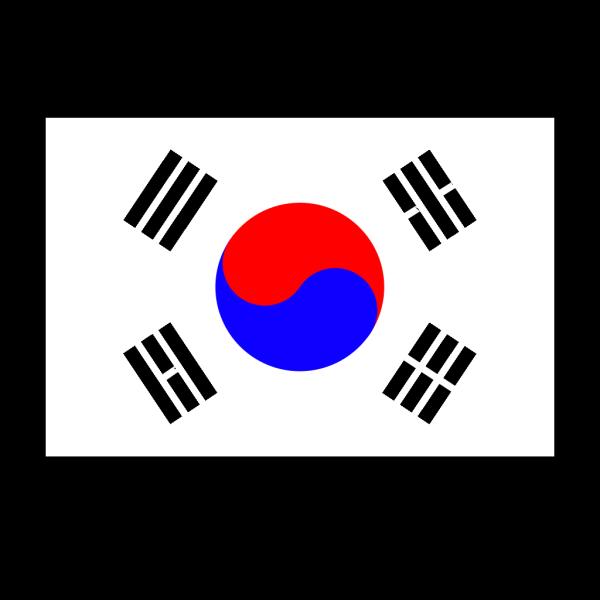 Flag Of Korea PNG Clip art
