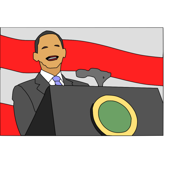 President Giving Speech PNG Clip art
