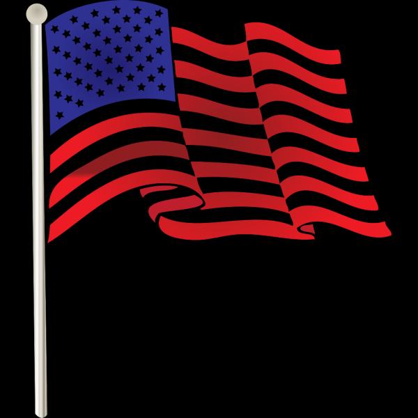 Usa Flag Badge PNG icon
