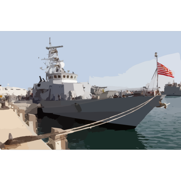 The U.s. Navy Patrol Boat Uss Firebolt (pc 10) Sits Moored In Port Displaying The PNG Clip art