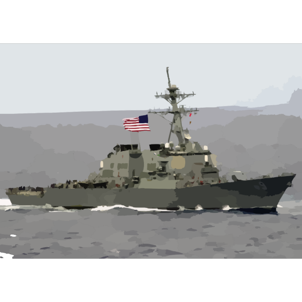 The Guided Missile Destroyer Uss Milius (ddg 69) Proudly Displays Her Large American Flag During A Practice Sea Power Demonstration For Uss Constellation PNG images