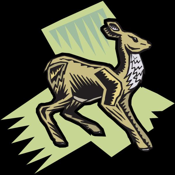 Standing Deer Art PNG images