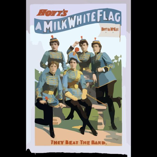Hoyt S A Milk White Flag PNG Clip art