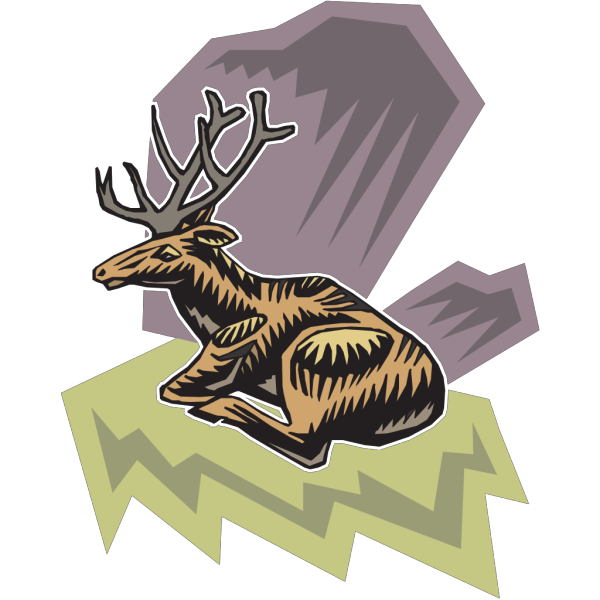 Deer Sitting Art PNG images