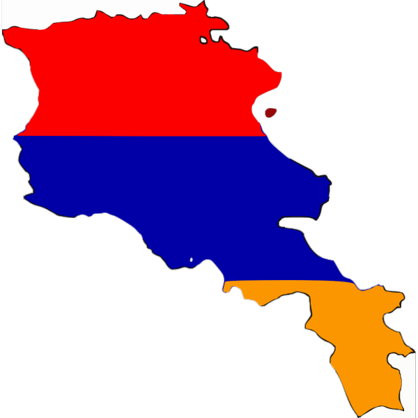 Armenia Flag Map PNG Clip art
