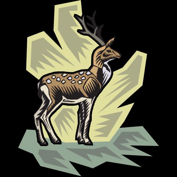 Stylized Deer Art PNG Clip art