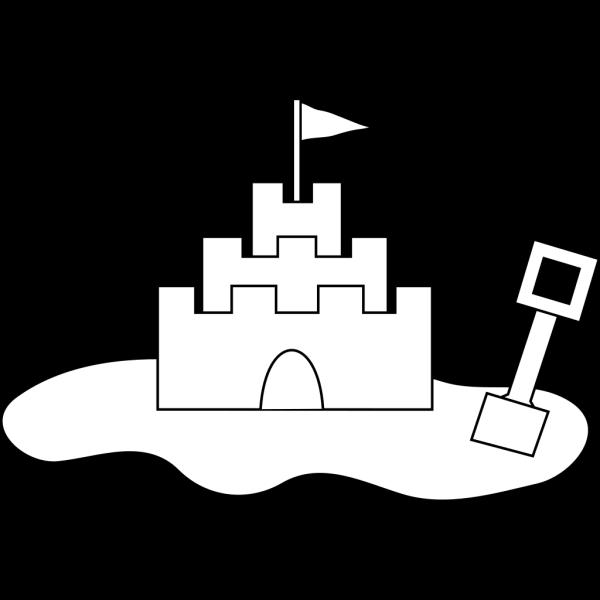 Sand Castle Outline PNG Clip art
