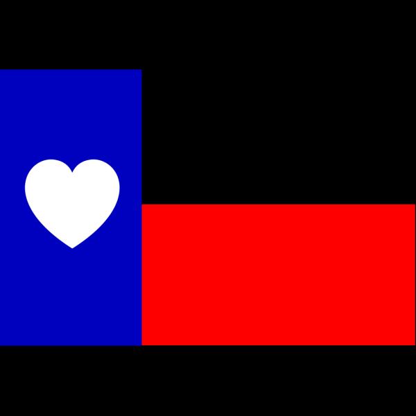 Hearttexasflag PNG Clip art