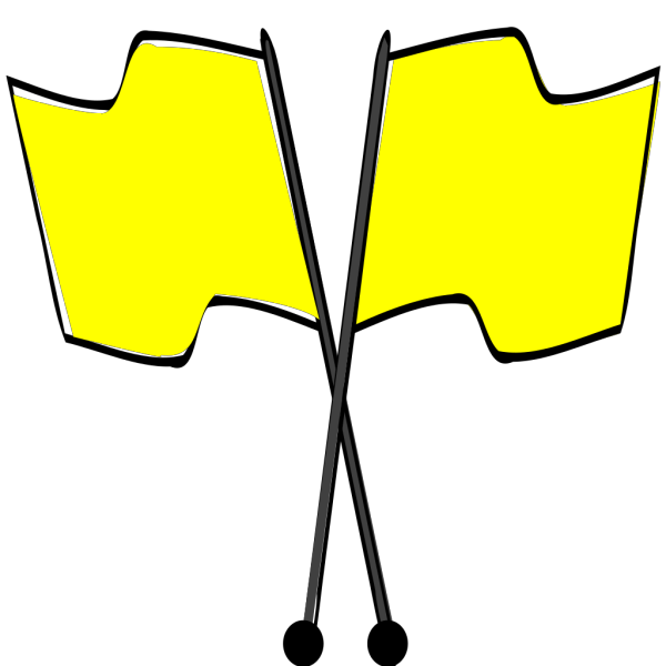 Crossed Yellow Flags With Blue  M  PNG Clip art
