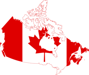 Canada Flag Map PNG Clip art
