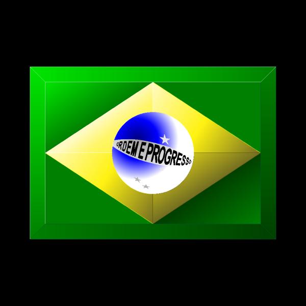 3d Brazilian Flag PNG Clip art
