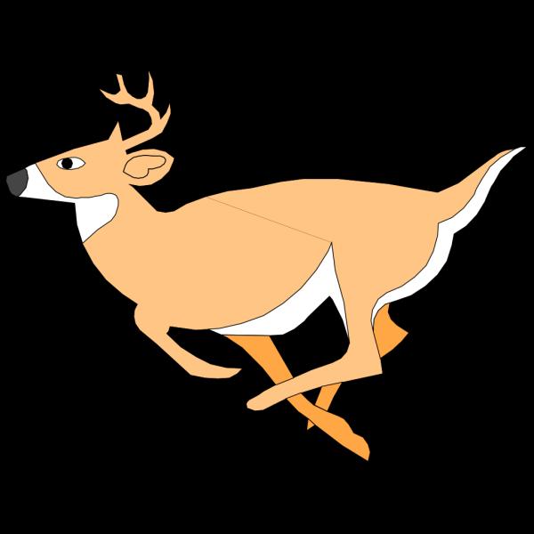 Leaping Deer Cartoon PNG Clip art