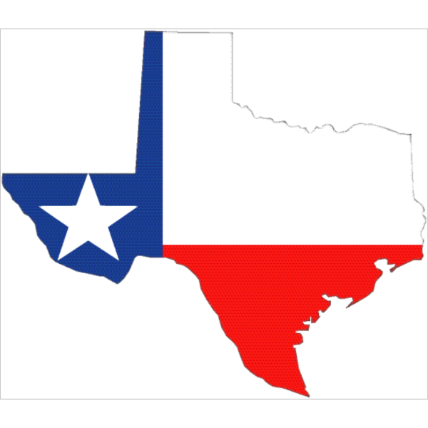 Texas Outline With Flag PNG Clip art