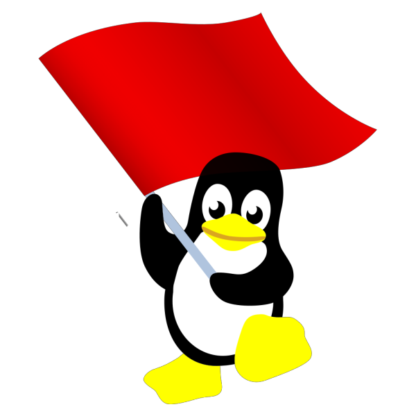 Penguin With Flag PNG Clip art