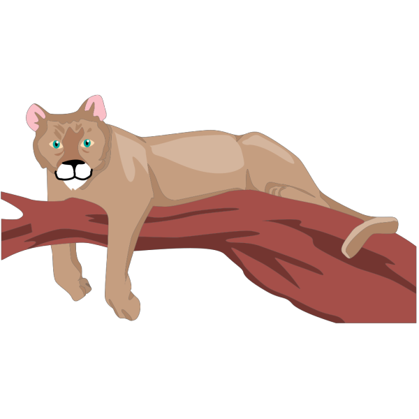 Cougar On A Branch PNG images