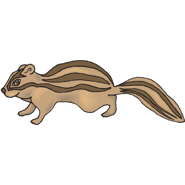 Happy Cartoon Chipmunk PNG images