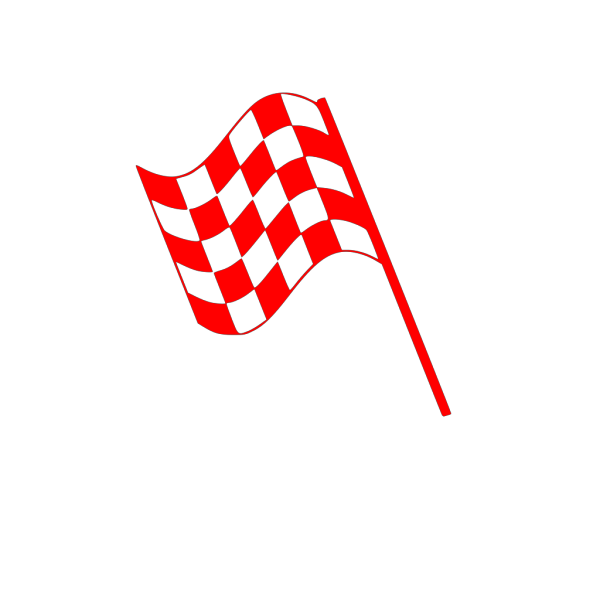 Checked Flag Red PNG Clip art
