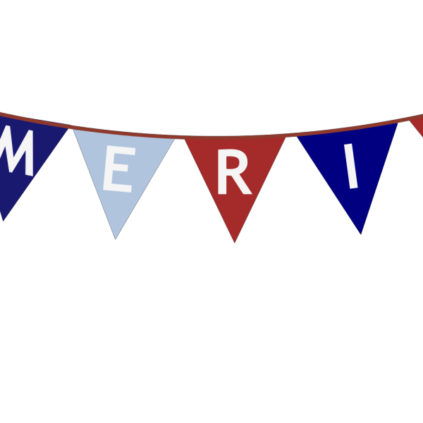 America Banner White Font PNG Clip art