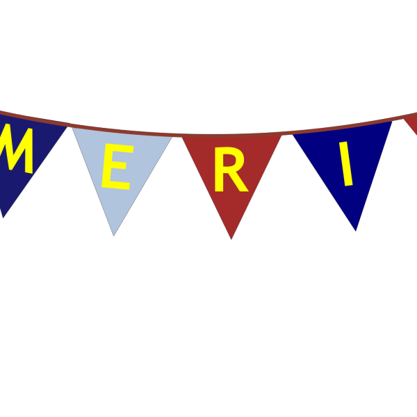 America Banner Yellow Font PNG Clip art