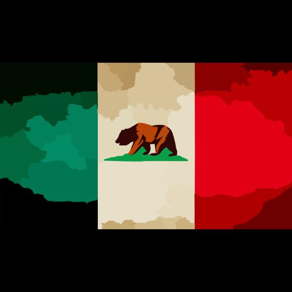 California Flag Star PNG Clip art