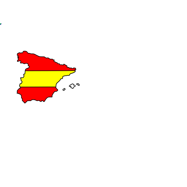 Flag Within The Boundaries Of Spain PNG Clip art