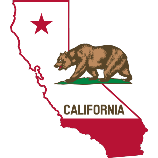State Of California With Bear PNG Clip art