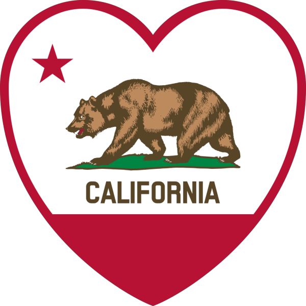 California Flag Heart PNG Clip art