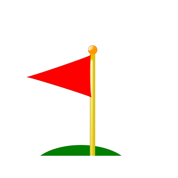 Golf Flag 19th Hole Red PNG Clip art