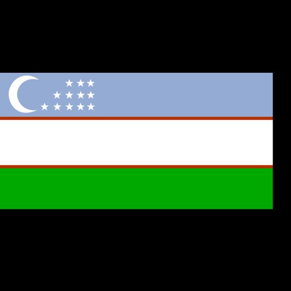 Uzbekistan Flag PNG Clip art