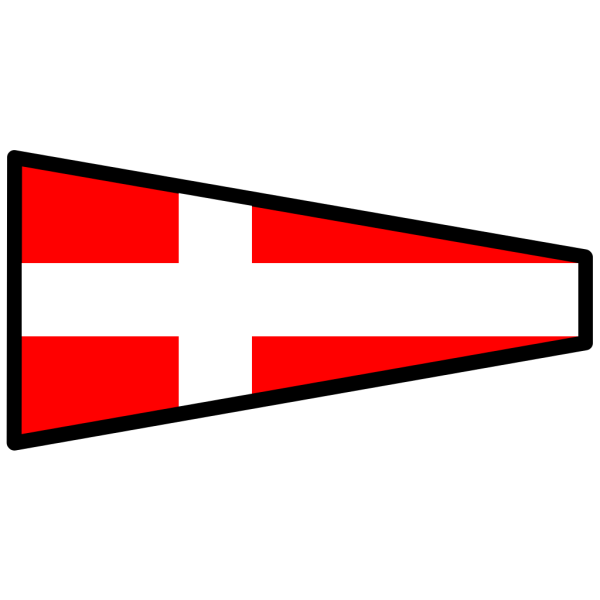 Red Signal Flag With White Cross PNG clipart