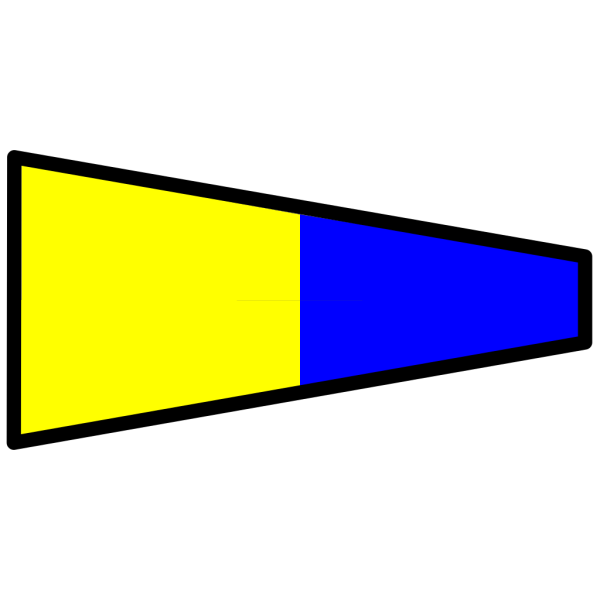 Yellow And Blue Signal Flag PNG Clip art