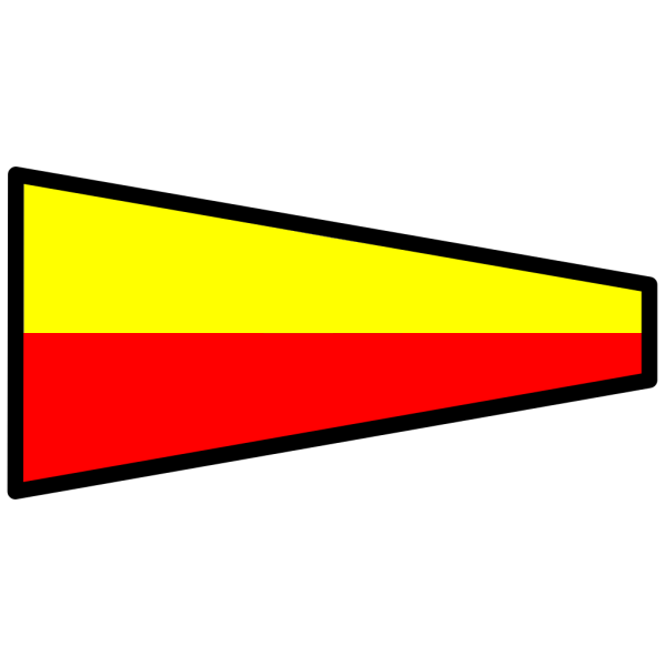 Red And Yellow Signal Flag PNG clipart