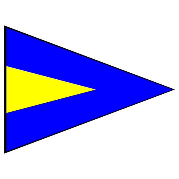 Blue And Yellow Signal Flag PNG Clip art