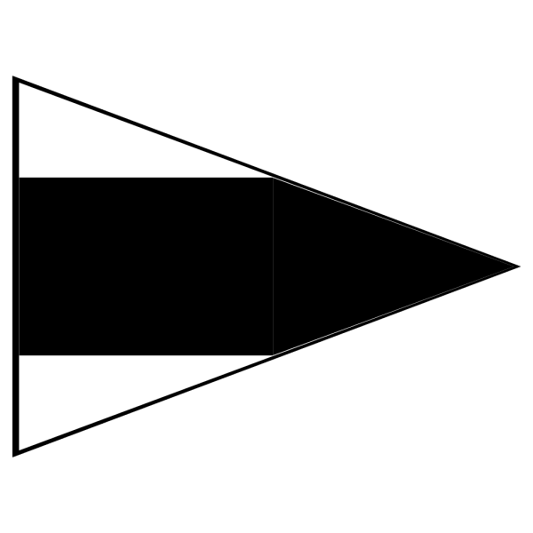 Black And White Signal Flag PNG Clip art