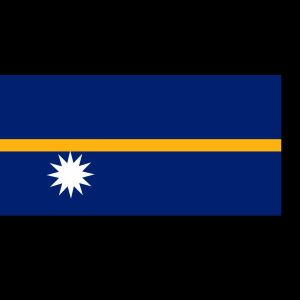 Nauru Flag PNG clipart