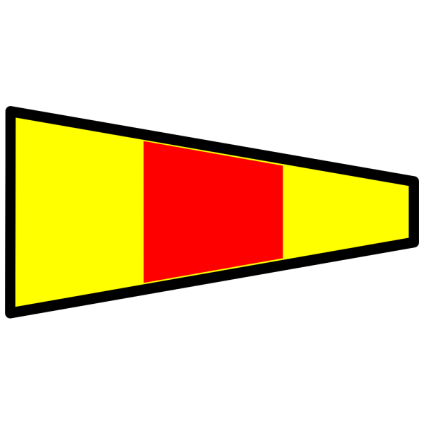 Yellow And Red Signal Flag PNG Clip art