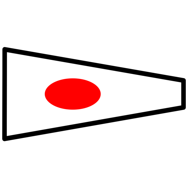 White Signal Flag With Red Spot PNG Clip art
