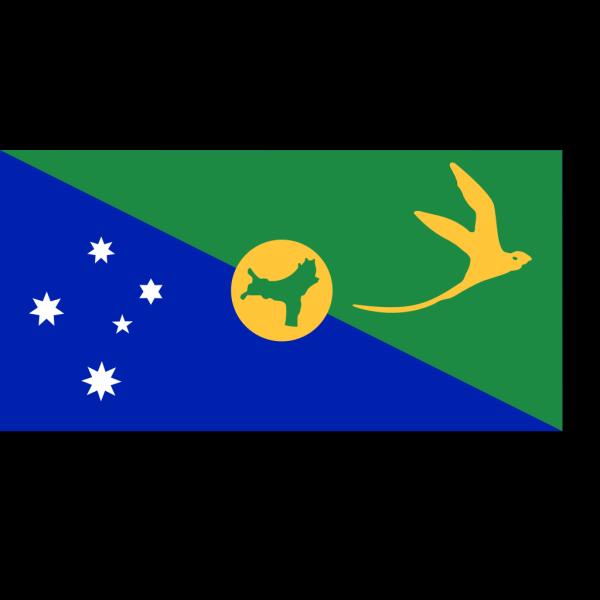Christmas Island Flag PNG Clip art