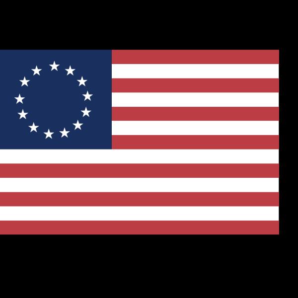 Historic American Flag PNG Clip art