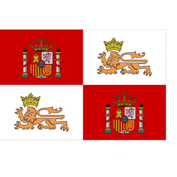 Historic Flag Of The Spanish Royal Navy PNG Clip art