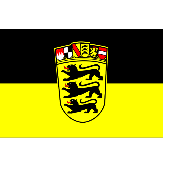 Baden Wurttemberg Flag And Coat Of Arms PNG Clip art