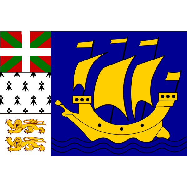 Variation Of The Flag Of Saint Pierre And Miquelon PNG Clip art