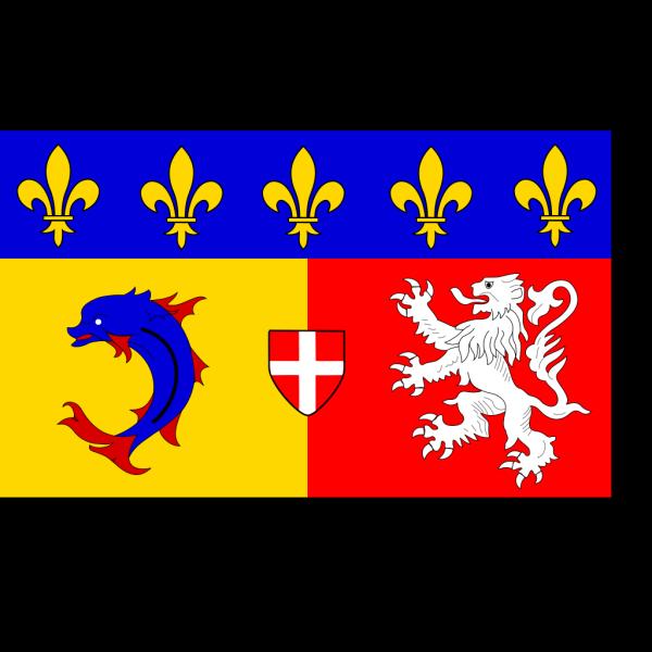 Flag Of Rhone Alpes PNG Clip art